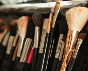 Make up brushes in bag